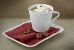 Chiboust coffee cream with chopped hazelnuts